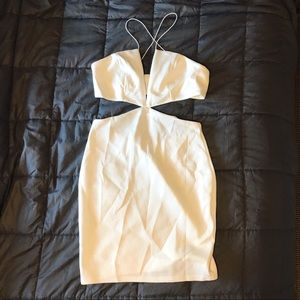 Tobi White Cutout Dress